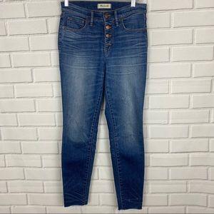 "Madewell 9"" high-rise skinny jean | size 28"